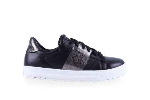 Mandy Sneakers - Black Leather