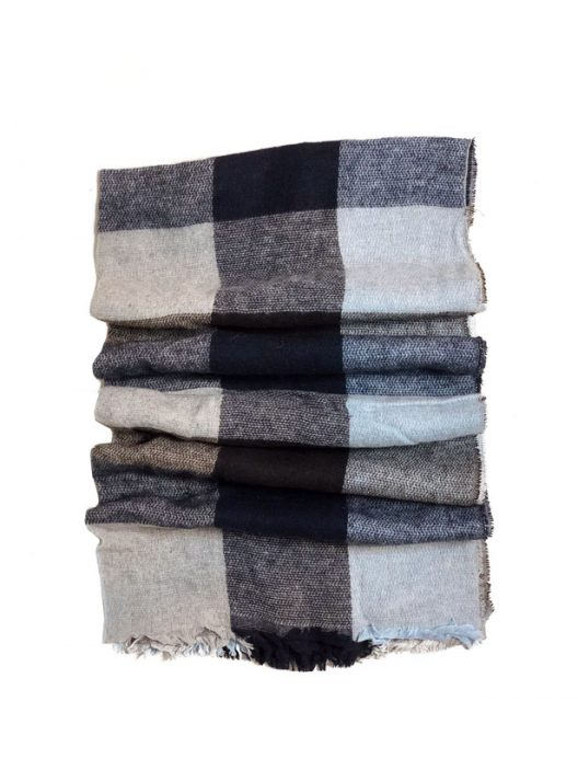 Checkered Scarf - Blue