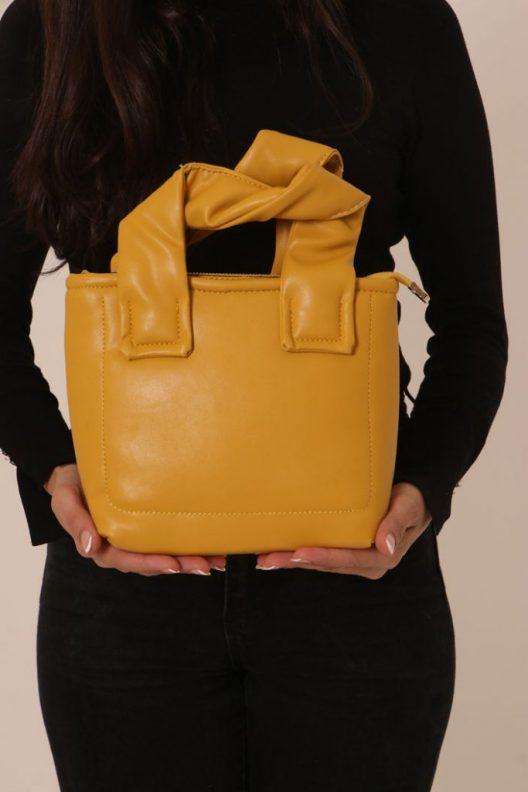Margo Stitched Bag - Yellow