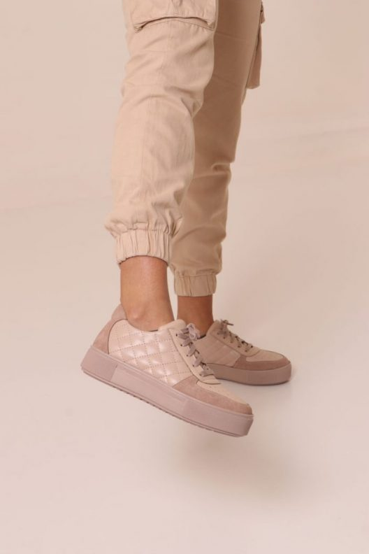 Private: Quilted Ray Sneakers – Beige