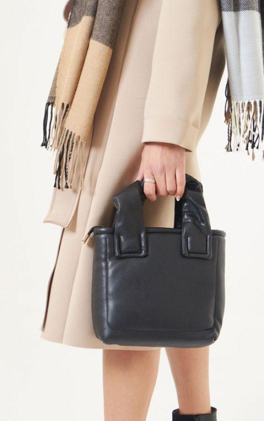 Margo Stitched Hand Bag - Black