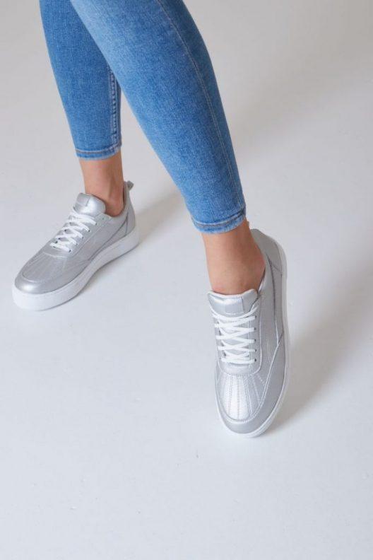 Nappa Sneakers - Silver