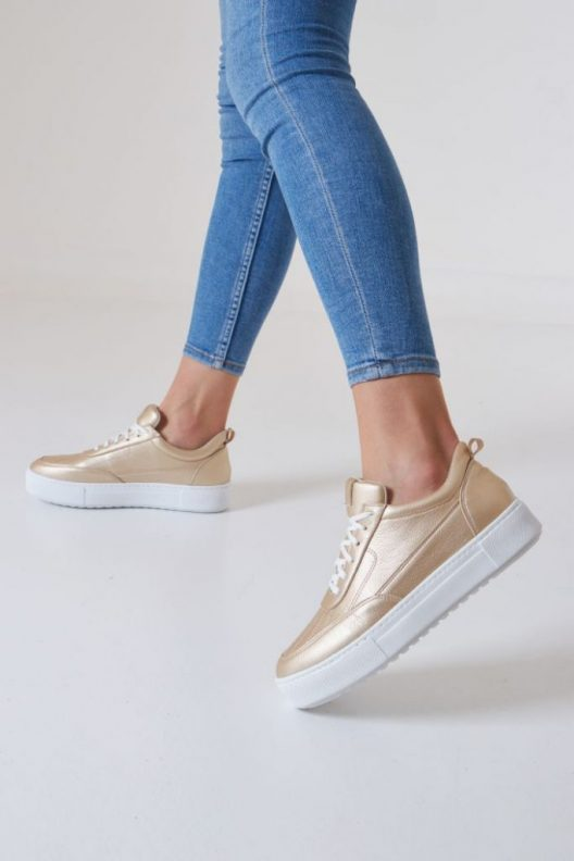 Nappa Sneakers – Gold