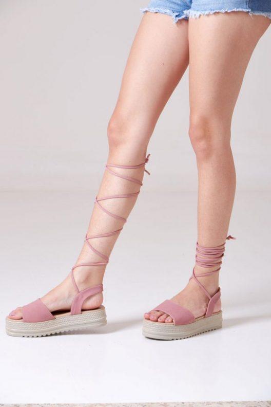 Gladis Platform Sandals - Rose